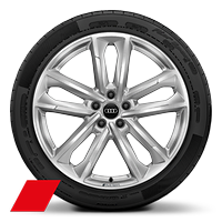 Audi Sport cast alloy wheels, 5-double-arm style, 8.5J x 20, 255/40 R20 tires