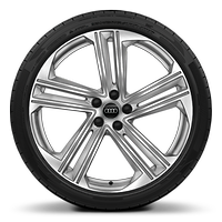 "21"" alloy wheels in 5-parallel spoke style design with 255/35 tyres"