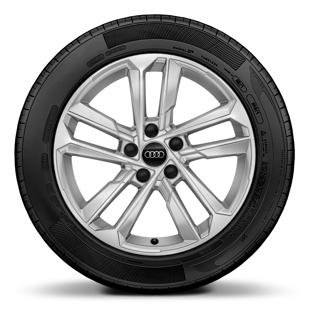 "17"" x 8.0J '5-parallel-spoke' style alloy wheels with 225/45 R17 tyres"