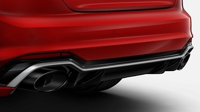 RS sport exhaust with gloss black oval tailpipes