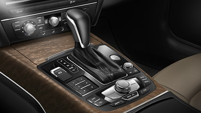 Leather gear lever