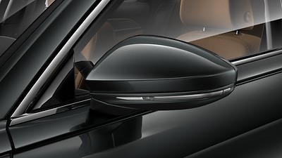Body-coloured exterior wing mirrors