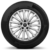 "17"" x 7.0J 'Multi-spoke' design alloy wheels with 215/55 R17 tyres"