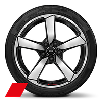 Alloy wheels, 5-arm cutter style, Anthracite Black, diam.-turn., 8.5Jx19, 255/35 R19 tires, Audi Sport GmbH