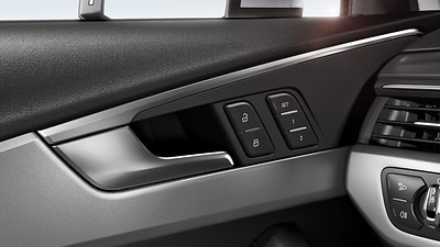 Power-adjustable front seats including memory feature for the driver seat