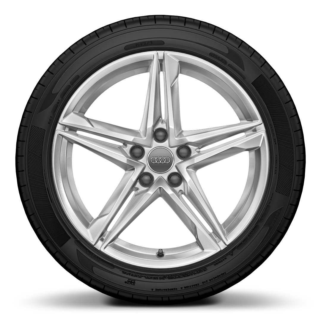 "18"" x 8.0J '5-twin-spoke star' design alloy wheels with 245/40 R18 tyres"