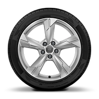 Cast alloy wheels, 5-arm style, 8J x 18 with 225/55 R18 tires
