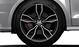 Cast alum. alloy wheels, 5-arm facet des. (S design), matt black, partly pol., 7.5J x 18 w. 225/35 R18 tyres