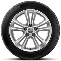 Cast alloy wheels, 5-double-spoke style, 7.5J x 17 with 225/50 R17 tires