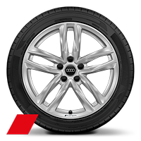 Audi Sport cast alloy wheels, 5-double- spoke style, 8J x 18 with 245/40 R18 tires