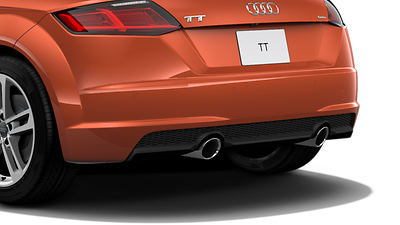 Dual exhaust outlets with chrome tips