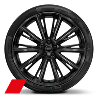 Alloy wheels, 10-spoke trapezoidal style, Black, 10.0J x 23, 285/35 R23 tires, Audi Sport GmbH