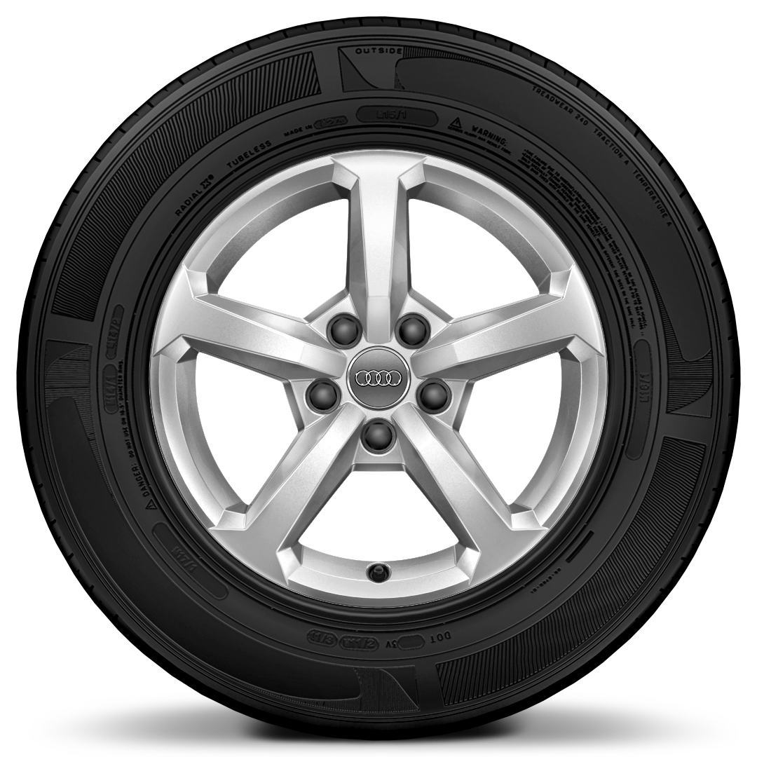 "16"" x 6.5J '5-spoke' design alloy wheels with 215/60 R16 tyres"