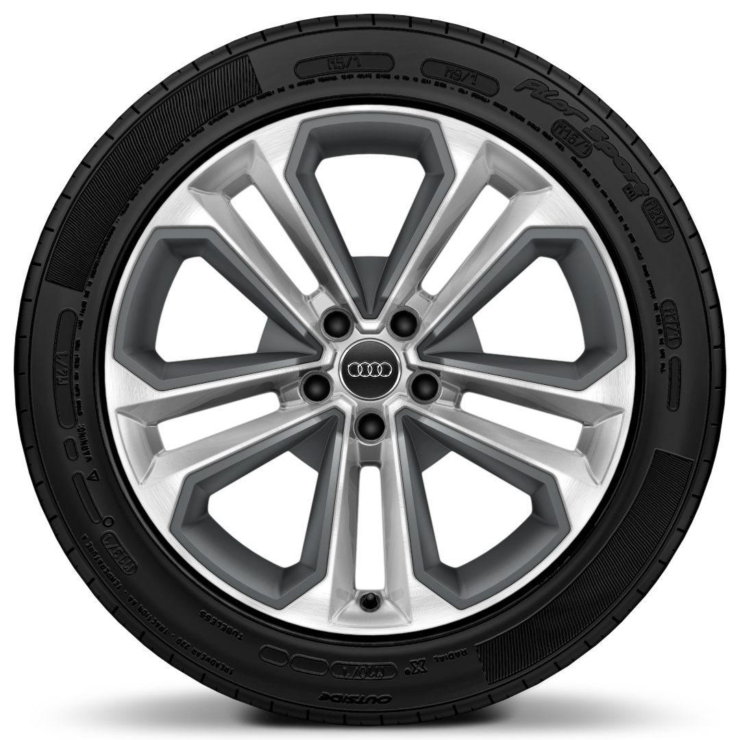 "19"" x 8.0J '5-twin spoke' module design alloy wheels with inlays in matt grey with 235/40 R19 tyres"