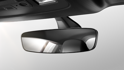 Auto-dimming frameless rear-view mirror