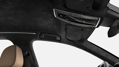 Alcantara® package with black headliner
