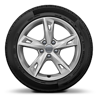 43.18 cms (17 inches)  x 7.5J '5-arm tornado' design alloy wheels with 225/50 R17 tyres