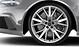 Cast aluminium alloy wheels, 5-V-spoke Star design, size 9.5 J x 21, with 285/30 R 21 tyres