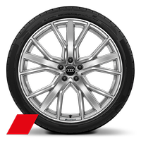 Audi Sport cast alloy wheels, 5-V-spoke star style, 8.5J x 21, 255/35 R21 tires