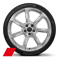 Alloy wheel 9J x 20, 7-spoke rotor style with 255/30 R20 tire