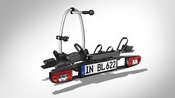 Extension kit for a third bicycle , for the bicycle carrier for the trailer towing hitch