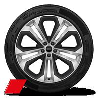 "21"" Audi Sport® 5-double-spoke-modular design wheels"