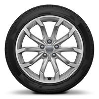 "18"" x 8J '10-spoke V' design alloy wheels with 245/40 R18 tyres"