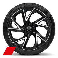 "21"" alloy wheels in 5-arm trigon design, anthracite black, diamond turned finish with 255/35 tyres"