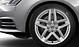 Cast aluminium alloy wheels, 5-arm star design, size 7.5J x 17, with R17 tyres