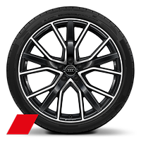 "21"" 5-V-spoke-design, anthracite finish wheels"