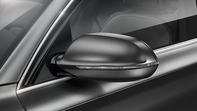 Exterior mirrors, heated and folding, automatic dimming with memory function
