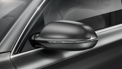 Exterior mirrors, power-adjustable, heated and power-folding, auto-dimming on both sides, with memory feature