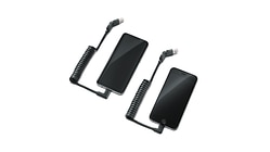 Laadkabelset USB type-C™, Voor mobiele apparaten met Apple Lightning-bus, haaks, en met USB-bus type C™, haaks