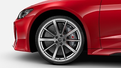 RS ceramic brakes with brake calipers in Anthracite Gray