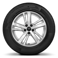 Alloy wheels, 5-double-spoke style, 7.0J x 17, 215/65 R17 tires