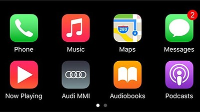 Audi smartphone interface (Apple CarPlay ou Google Android Auto)
