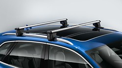 Carrier unit roof racks for vehicles with roof rails