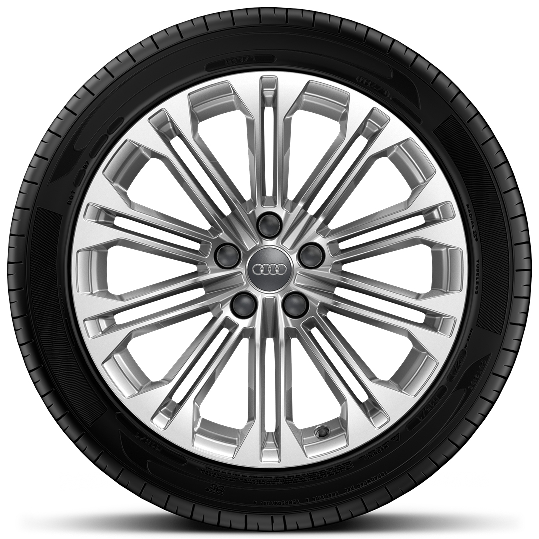 "18"" x 8.5J '10-parallel-spoke' design alloy wheels with 245/40 R18 tyres"