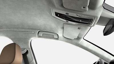 Headliner and rear shelf in Alcantara®