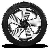 "21"" 5-spoke design Bi-color Black wheels"