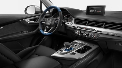 Controls in Alcantara/leather combination, Audi exclusive