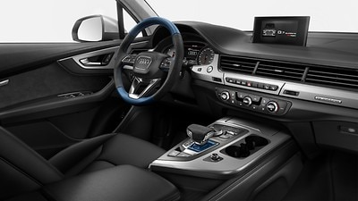 Bedieningselementen in Audi exclusive alcantara/leder