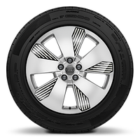Cast alloy wheels, 5-arm Aero style, with graphic print, 8.5J x 19 with 255/55 R19 tires