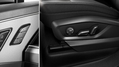 Electrically adjustable front seats including memory function for the driver's seat