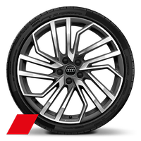 Audi Sport  5-segment-spoke Evo style, Matte Titanium Look, diamond- turned, 9J x 20 with 275/30 R20 tires