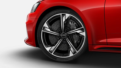 Ceramic brakes with brake calipers, glossy anthracite gray