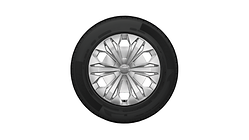 Complete steel winter wheel with full wheel cover, brilliant silver, 6.5 J x 17, 215/65 R 17 99H