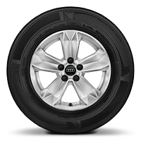"15"" '5-arm' alloy wheels"