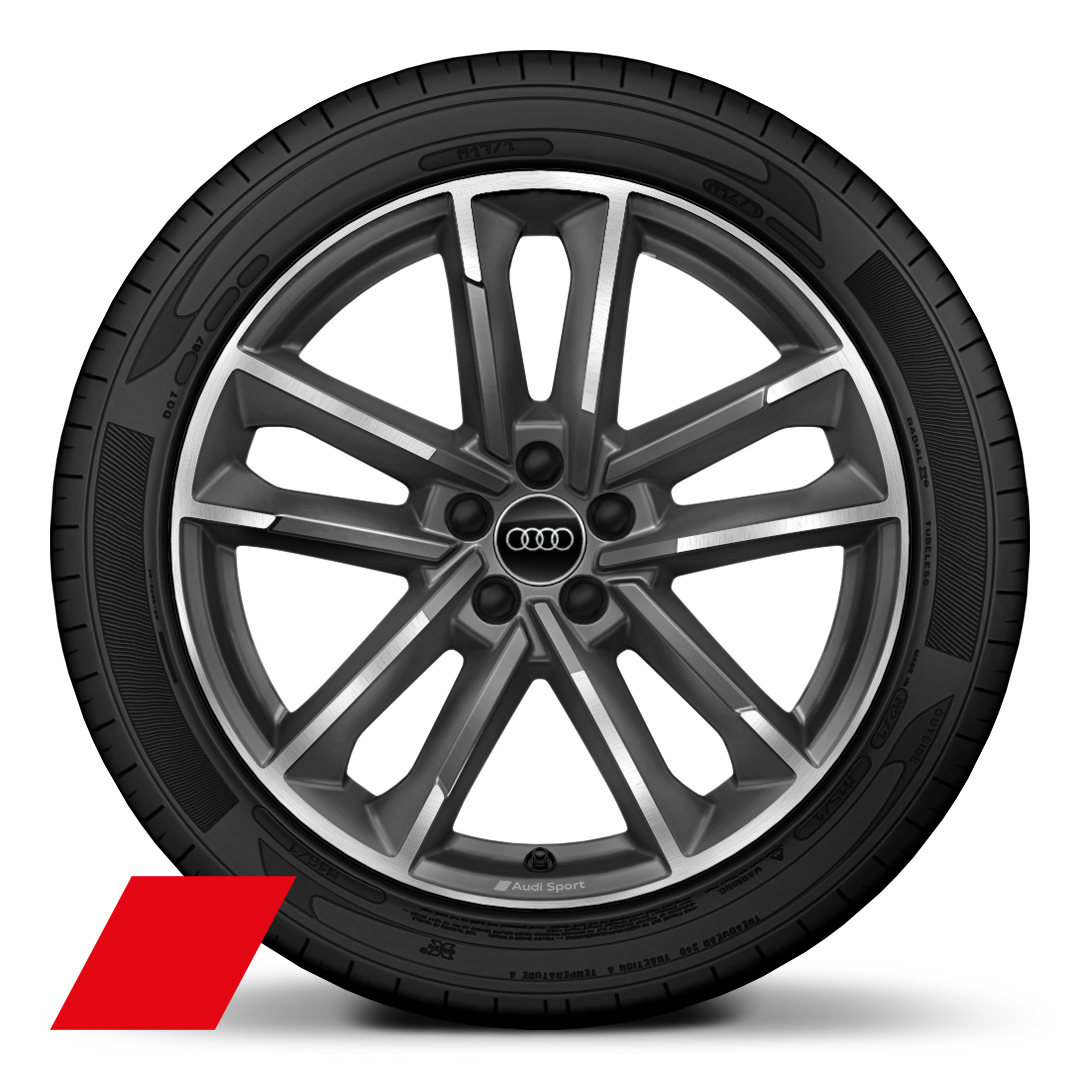 "18"" x 7.5J '5-double arm' design alloy wheels, diamond turned with 215/40 R18 tyres"