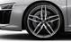Кованые алюминиевые диски, дизайн «5 двойных спиц», блестящие, черные, с полированной обводкой, размер 8,5J x 19 спереди и 11J x 19 сзади